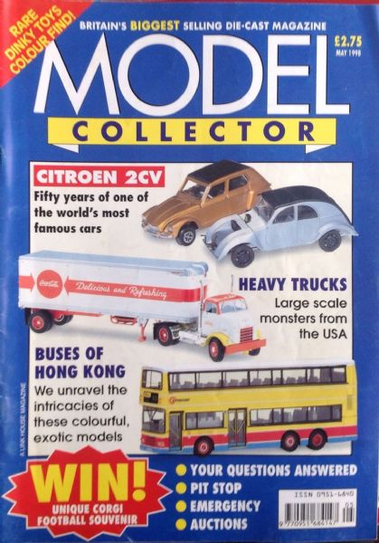 ORIGINAL MODEL COLLECTOR MAGAZINE May 1998
